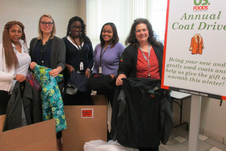 US Foods Donates Coats