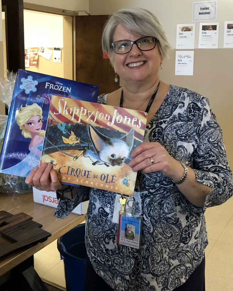 St. Paul Lutheran School Donates Children's Books