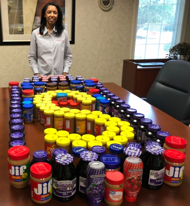 Synovus Bank Donates Peanut Butter and Jelly