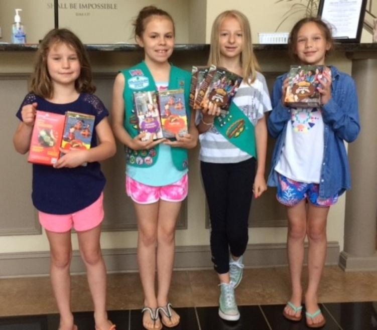 Generous Girl Scouts