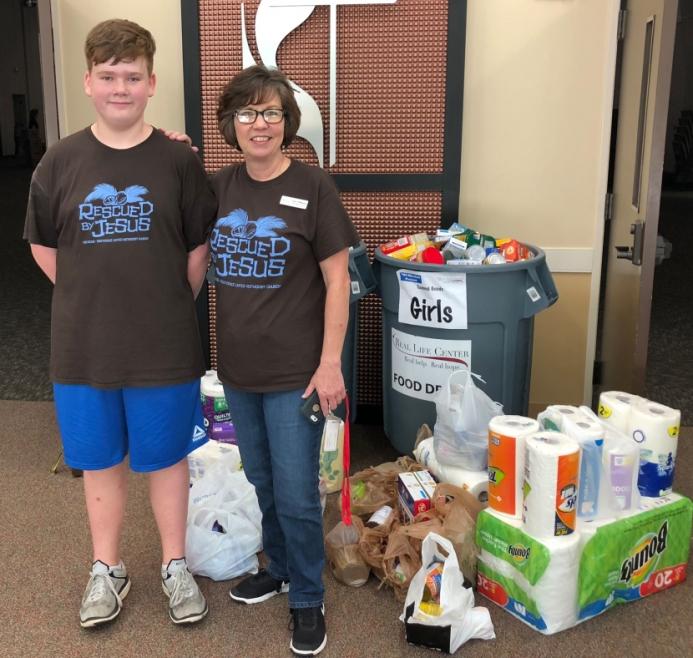 Providence UMC VBS Hosts Food Drive
