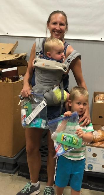 Family Donates Toiletries