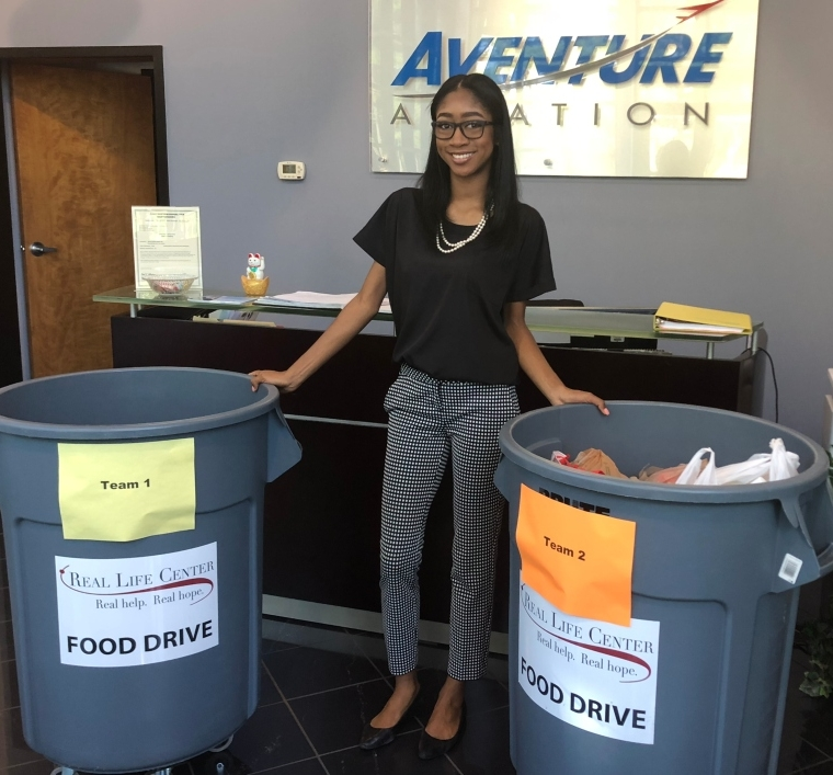 Aventure Aviation Annual Food Drive