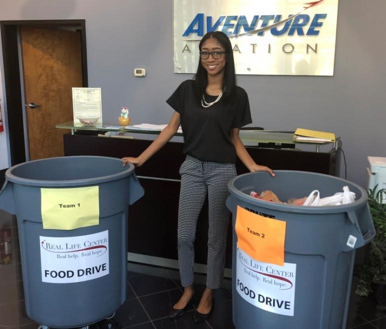 Aventure Aviation Annual Food Drive