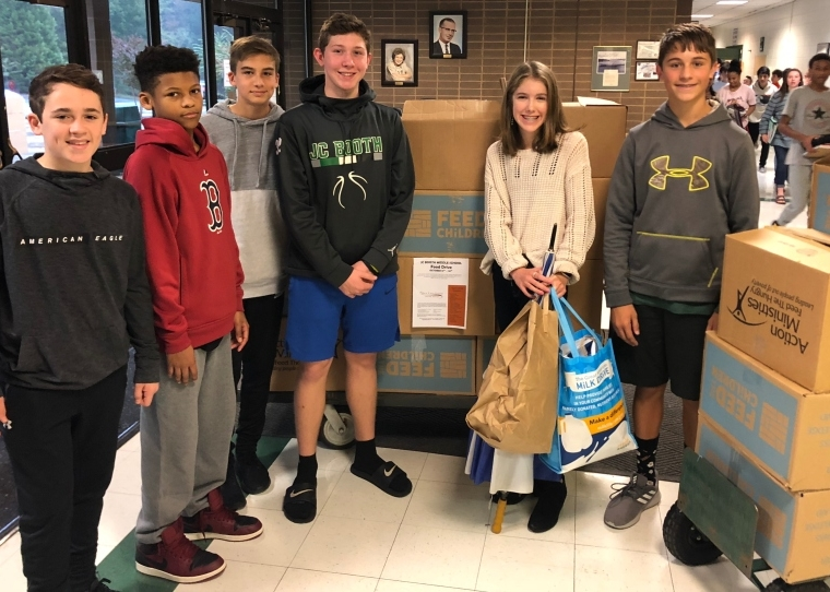 JC Booth Middle School Student Council Food Drive