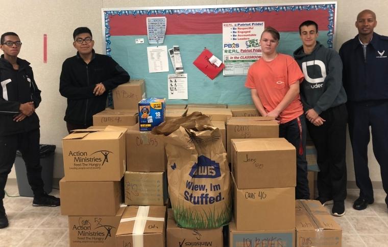 Sandy Creek High School ROTC Food Drive