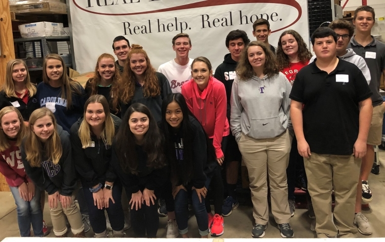 Trinity National Honor Society Serving Their Community
