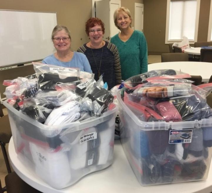 All Saints Anglican Church Donates Socks and Underwear