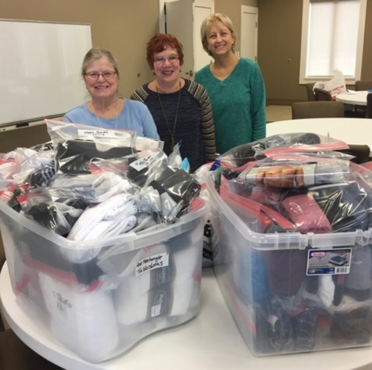 All Saints Anglican Church Donates Socks and Underwear