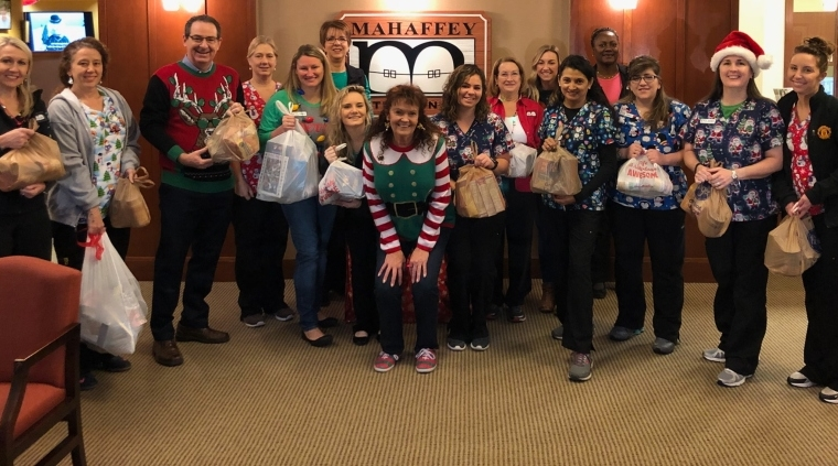 Mahaffey Orthodontics Hosts Food Drive