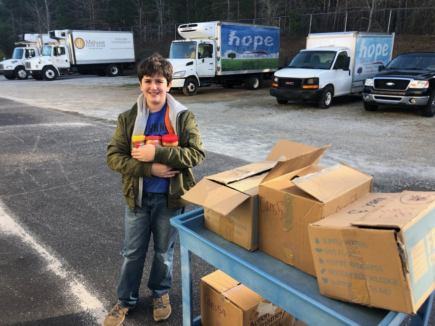 Student Leads School In Peanut Butter Drive