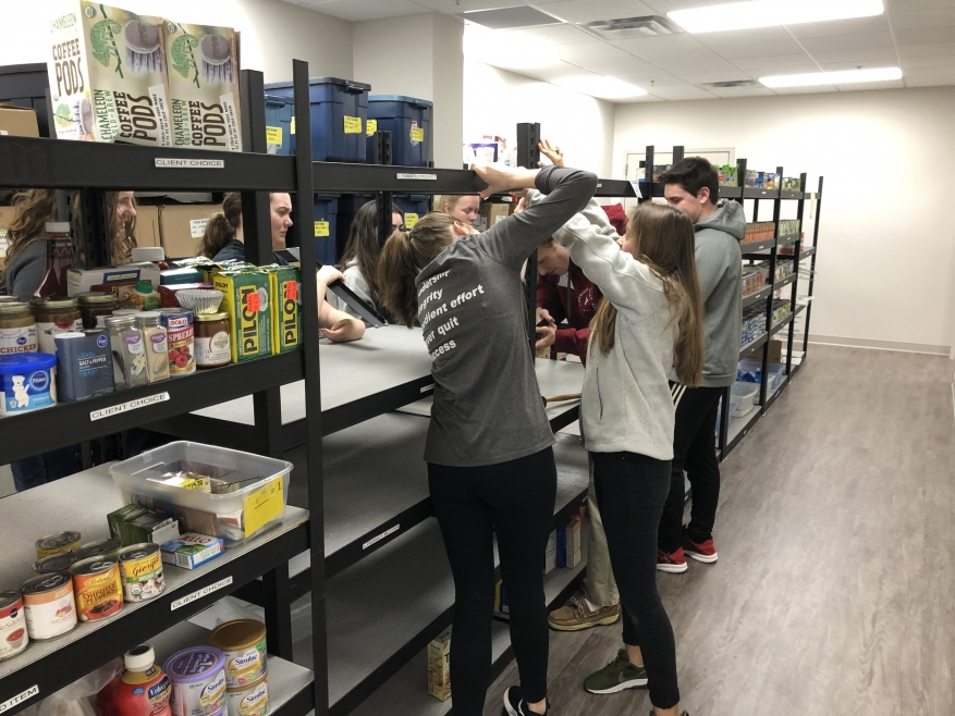 Trinity Christian School National Honor Society Helps with Project