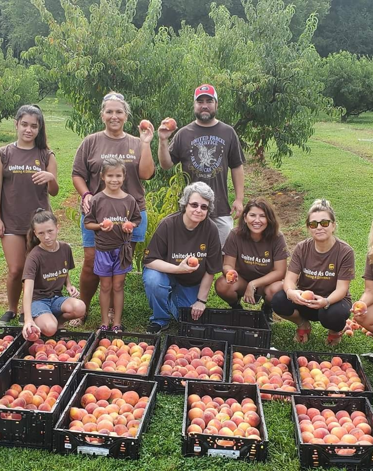 UPS Serves our Families by Picking Peaches