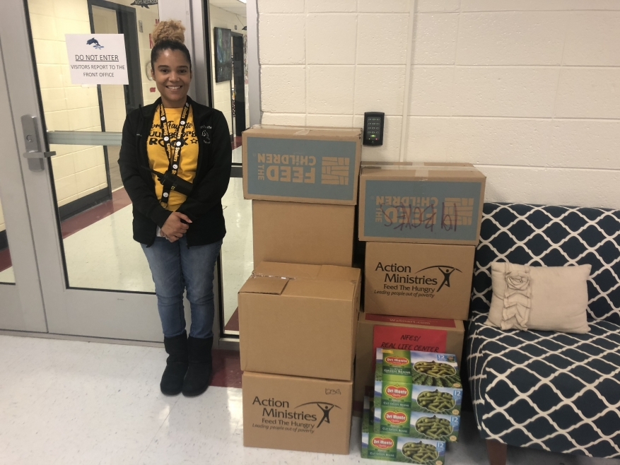 332 pounds of food collected by North Fayette Elementary School!