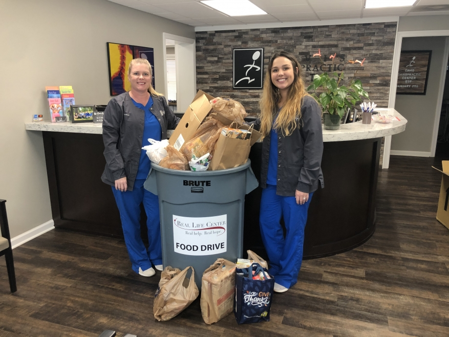 Davis Chiropractic Center Donates 215 Pounds of Food!