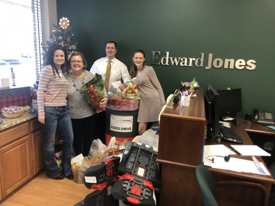 Mike Martin of Edward Jones Collects Generous Food Donations