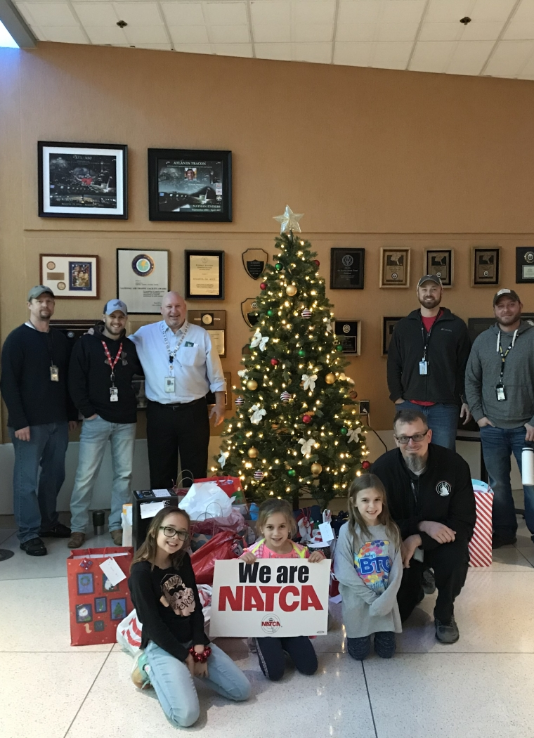 ATL Tracon and National Air Traffic Controllers Association Gives our Children a Surprise Blessing