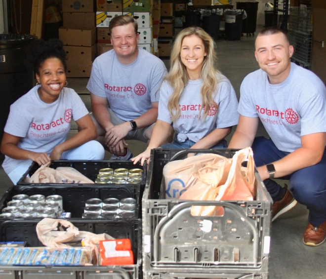 Rotoract Club of Peachtree City Collects Incredible Amount of Food